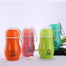 企鹅保温杯 礼品杯定制不锈钢水杯 卡通杯印 logo广告杯定做杯子