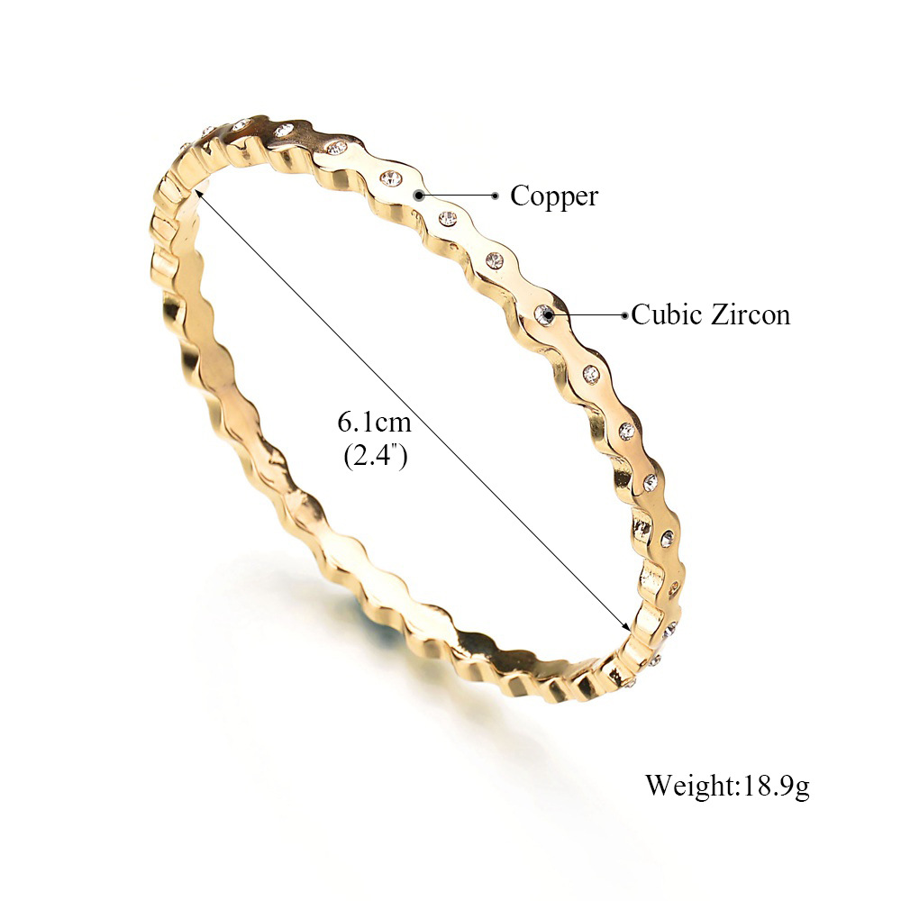 Occident and the United States metal Diamond bracelet (Gold)NHBQ0964-Gold