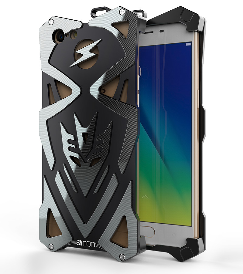 SIMON THOR Ⅱ Aviation Aluminum Alloy Shockproof Armor Metal Case Cover for OPPO A57