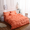 The Nordic winter bedding factory wholesale four sets of simple solid color sanding quilt fitted three piece of textile