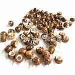 高温深金黄色米珠纯色珠子散珠 景德镇陶瓷diy饰品配件手工材料包
