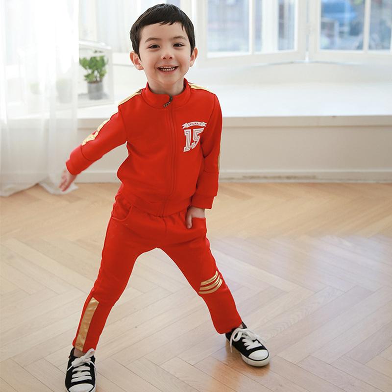 韓版童裝男童拉鏈衫套裝外套舒適套裝廠家直銷加盟代理一件代發