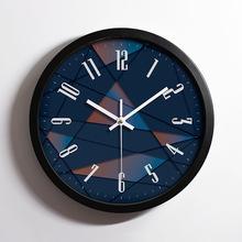 金属不锈钢静音挂钟 创意时尚客厅铝挂钟定制LOGO 钟表批发 铝钟
