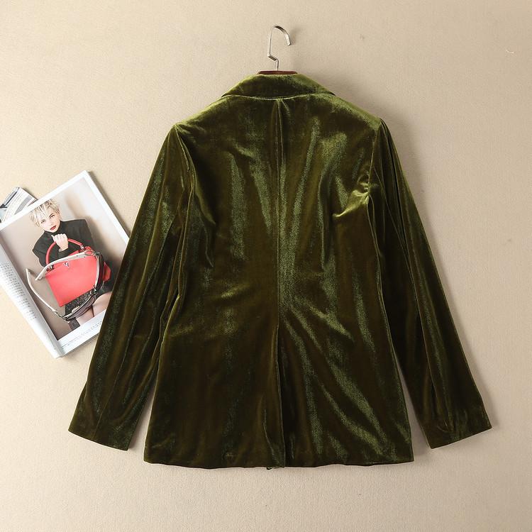 1010-02 清子同款絲絨西裝長褲顏色圖片色;面料絲絨尺碼