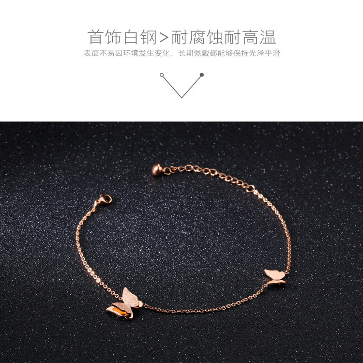 Titanium&Stainless Steel Korea Geometric Ankle(Rose Gold Anklet) NHOP2782-Rose-Gold-Anklet