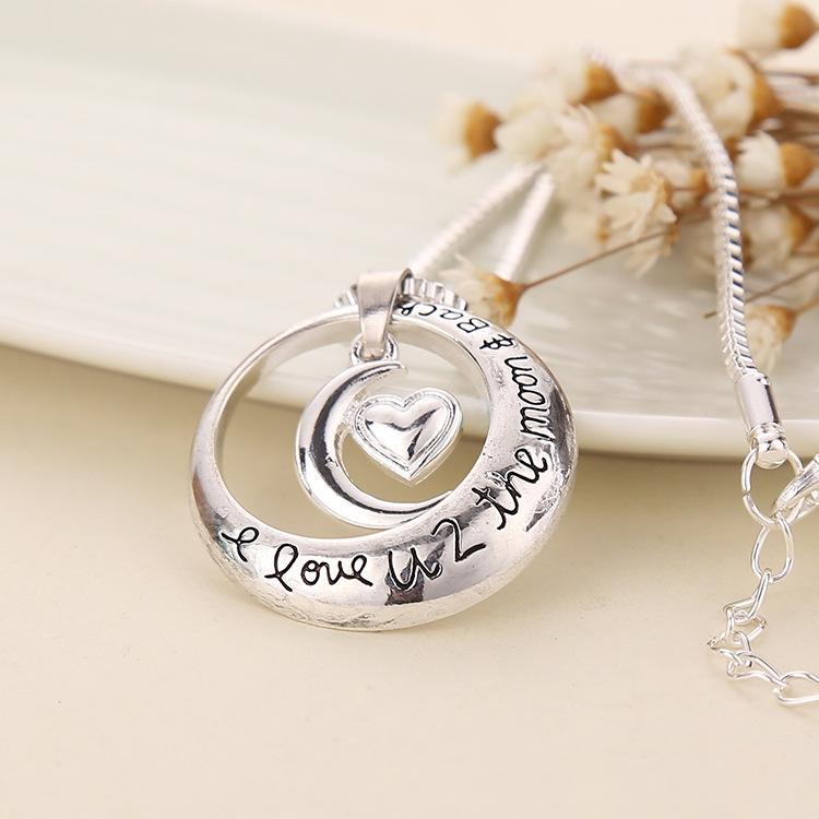 Fashion Jewelry Love Heart Necklace Moon Sun Necklace NHMO208196