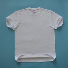 底衫定制无缝圆筒男士短袖t恤 sup纯色宽松reme高档200克全棉直筒