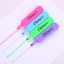 糖果色韩国文具大容量荧光笔斜头记号笔耐写记号笔标记笔可印LOGO