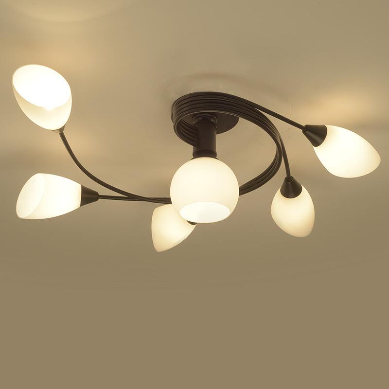 美式led吸顶灯客厅卧室灯餐厅创意铁艺儿童灯具灯饰