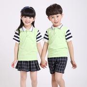 童装套装工厂承接夏款儿童纯棉短袖印花T恤来图来样定制儿童服装