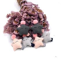 儿童宝宝个性发夹 韩版布艺发饰 批发套装创意可爱笑脸星星发夹