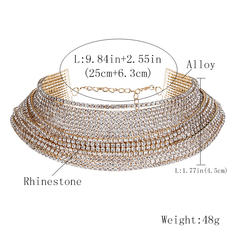 Exotic alloy plating Necklace (Alloy)  NHJE0140