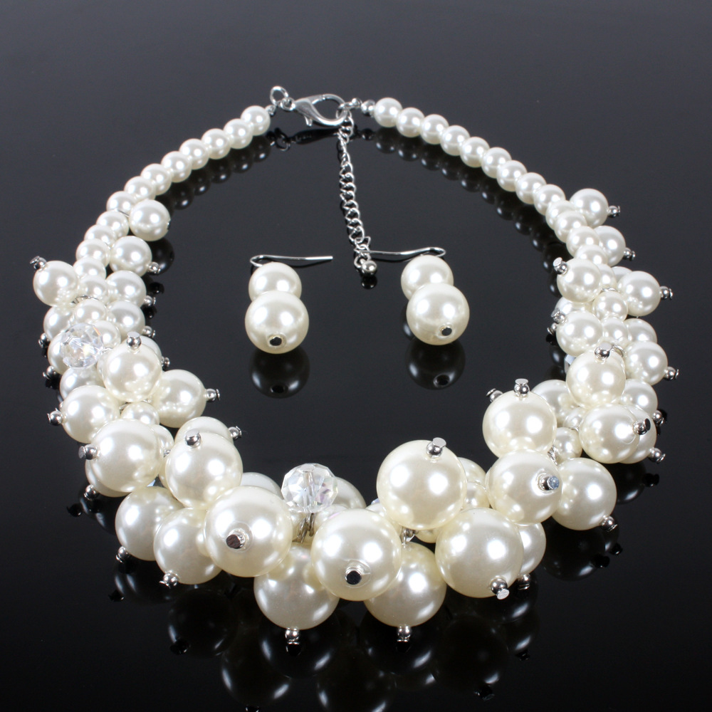 Occident and the United States pearlnecklace (creamy-white)NHCT0111-creamy-white