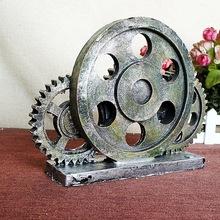 复古怀旧家居树脂复古工业风齿轮摆件酒吧咖啡馆  SMS33803