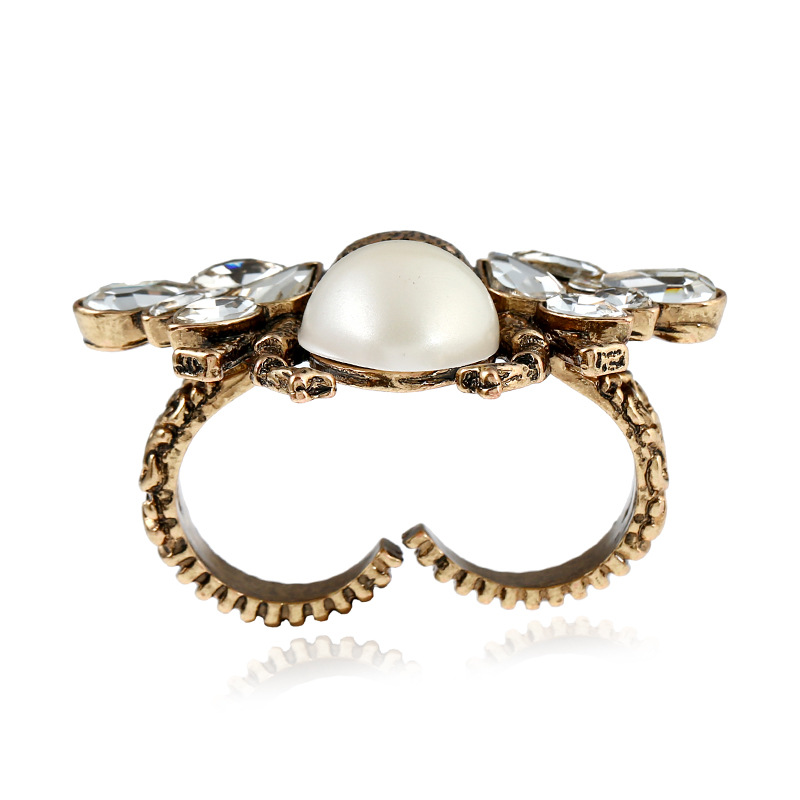 Fashion Alloy plating Rings Animal (Old alloy white)  NHKQ1450-Old alloy white