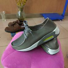 高密市男女新款皮鞋手工真皮休闲包子鞋头层牛皮透气系带运动单鞋
