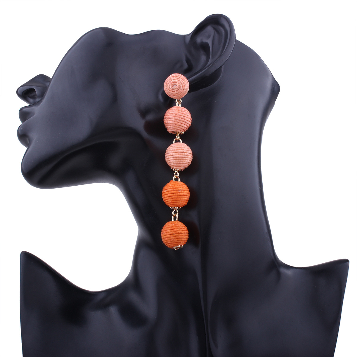 Occident and the United States alloy manual earring (Orange)NHNMD3818-Orange