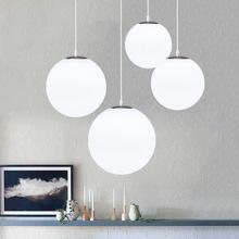 简约单头球形玻璃球吊灯创意个性餐厅服装店吧台过道泡泡球吊灯