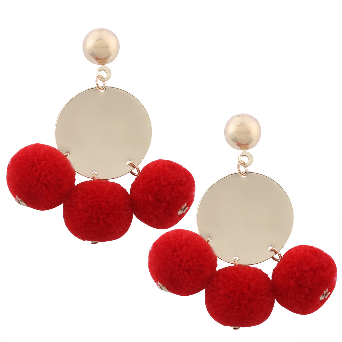 Occident and the United States alloy plating earring (color)NHNMD3750-color