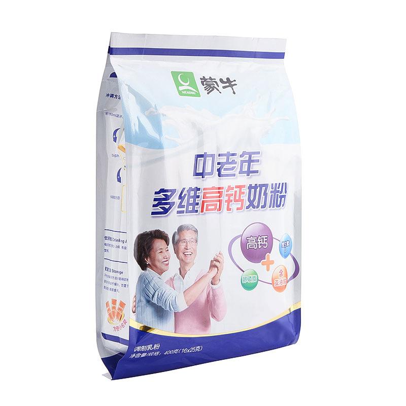 蒙牛普装中老年多维高钙奶粉400g/袋装 营养早餐冲调饮品25g*16条