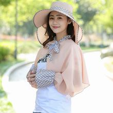 夏天女士遮阳帽大檐防晒防紫外线采茶遮脸帽户外折叠帽子定制批发