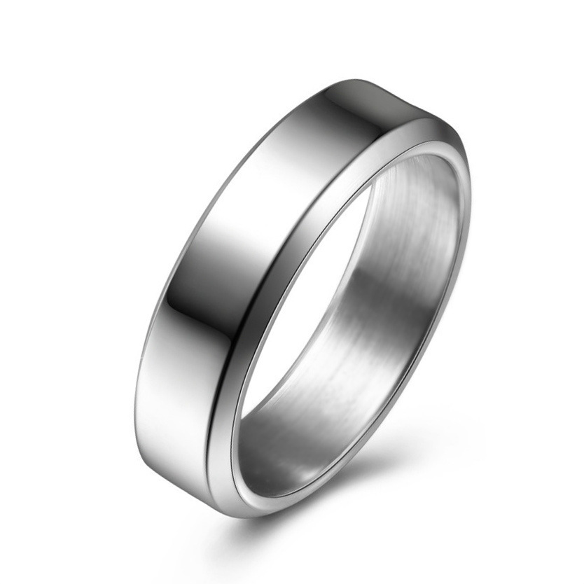 Occident and the United States Titanium steel plating Titanium steel ring (Steel 8mm male section No13)NHIM0903-Steel 8mm male section No13