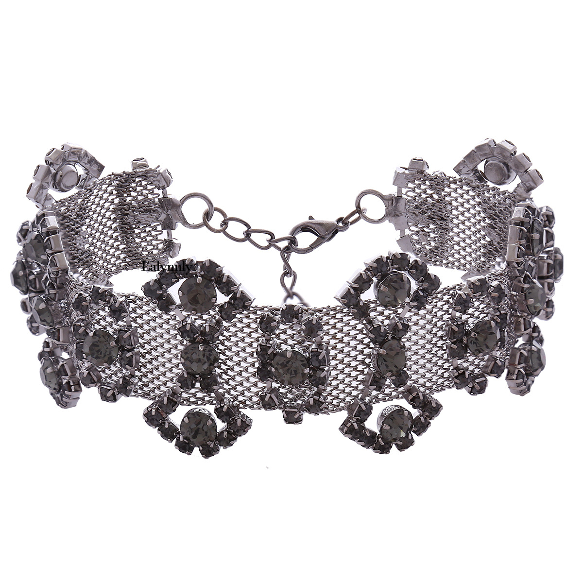 Occident and the United States alloy Diamond necklace (Gun black)NHNMD3824-Gun black