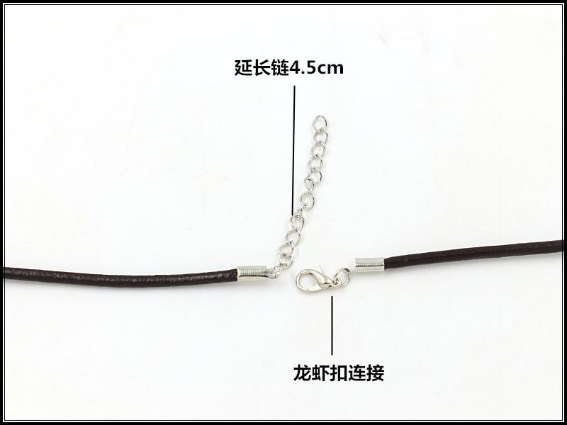 Colgante cuero cadena collar hombres accesorios de moda NHHM194518