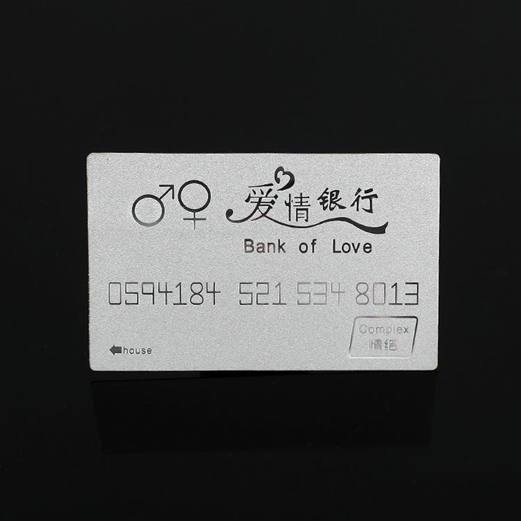 直销推荐银卡定制结婚纪念日礼物情人节纯银999爱情银行卡一件代