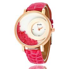 滚珠表女表皮带流砂钻表女生石英手表微商爆款货源时装手表批发