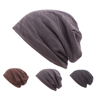 Hats men's Baotou hats autumn and winter woolen knitted hats double-layer warm and windproof cycling hats wholesale women's hats