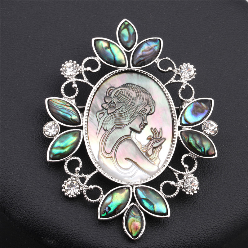 Alloy Fashion Geometric brooch  Lace beauty head NHYL0096Lacebeautyhead