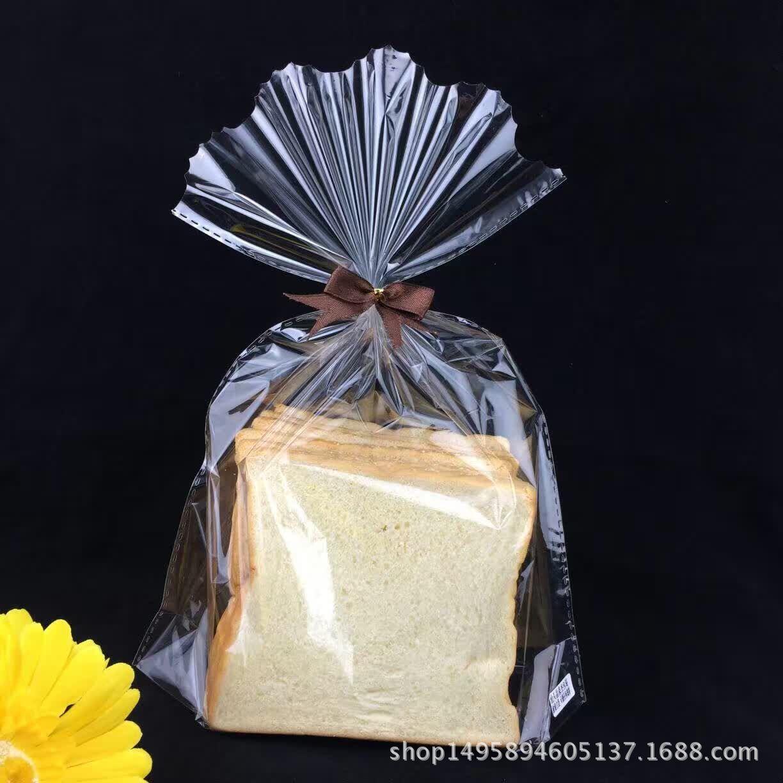 烘焙包装 中号6片装吐司面包方包袋/空白透明塑料食品包装袋100个