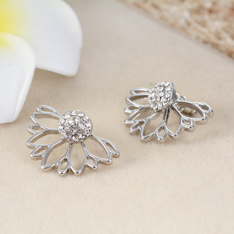 Europe and the United States alloy plating earring (Silver)NHGY0561-Silver