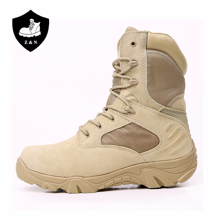 2019 Black Beige Mens Leather Army Boots Special Force Desert Jungle ... 018fb406d