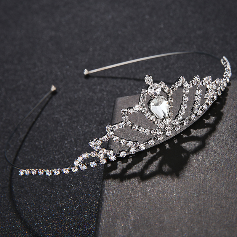 Imitated crystal&CZ Fashion Geometric Hair accessories  (Alloy) NHHS0467-Alloy