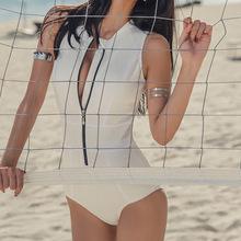 新款泳衣女士时尚连体性感沙滩比基尼韩版女士温泉泳装