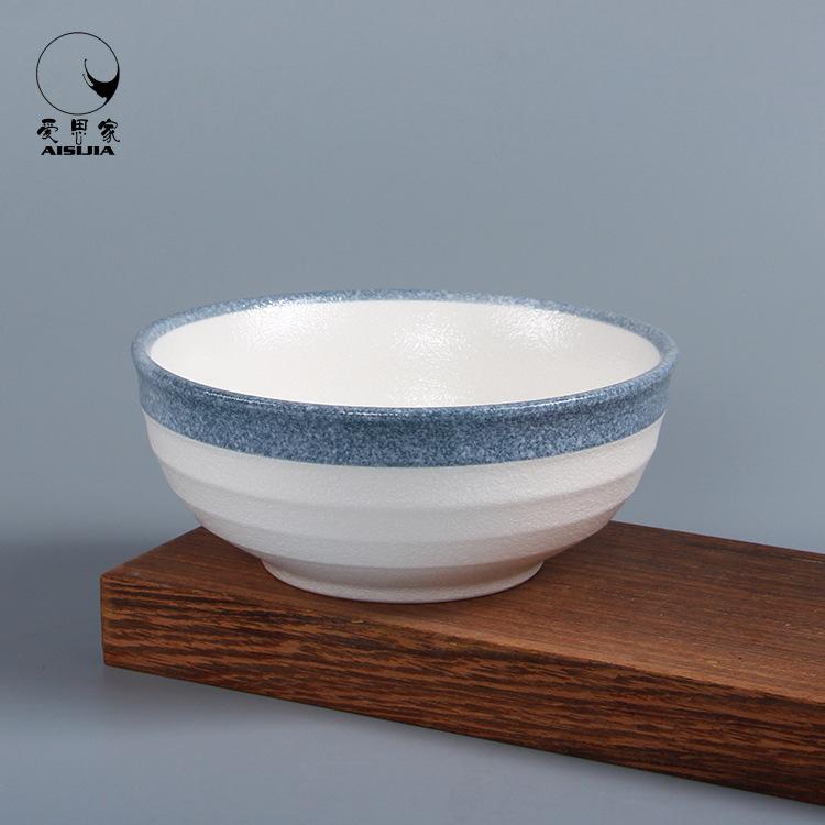 厂家批发 日韩式创意陶瓷餐具米饭碗石器雪花釉汤碗面碗小号面碗