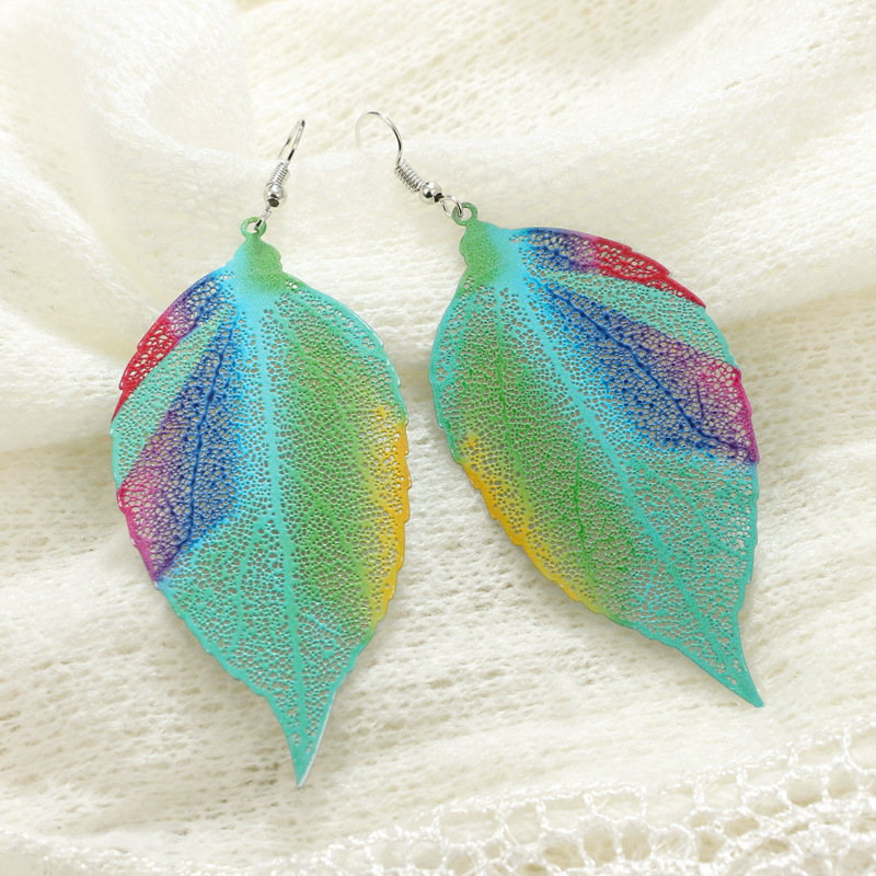 Fashion Alloy plating earring Geometric (Photo Color)  NHGY0953-Photo Color