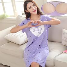 Đầm ngủ nữ thời trang, kiểu dáng cộc tay, phong cách trẻ trung