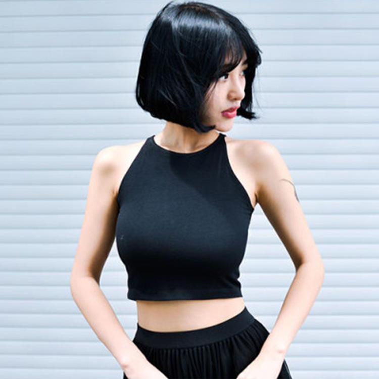 厂家直销批发纯棉吊带背心女夏韩版运动瑜伽打底小背心抹胸裹胸