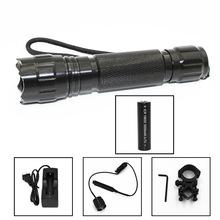 迷你501B T6 燈珠五檔LED強光充電手電筒 黑金藍紫外殼 套裝鼠尾
