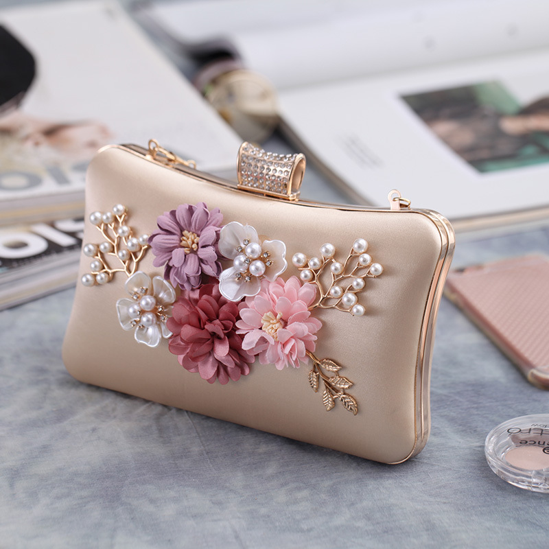 Fashion hand take flower polyester evening bag NHYG154155