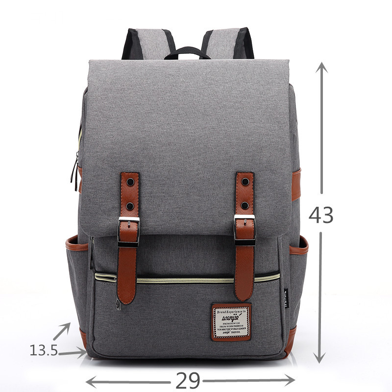d875d0a09019 2018 Men Women Canvas Backpacks School Bags Large Capacity Backpack ...