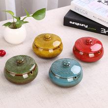批發陶瓷大號復古煙灰缸創意個性時尚復古歐式煙灰缸logo定制
