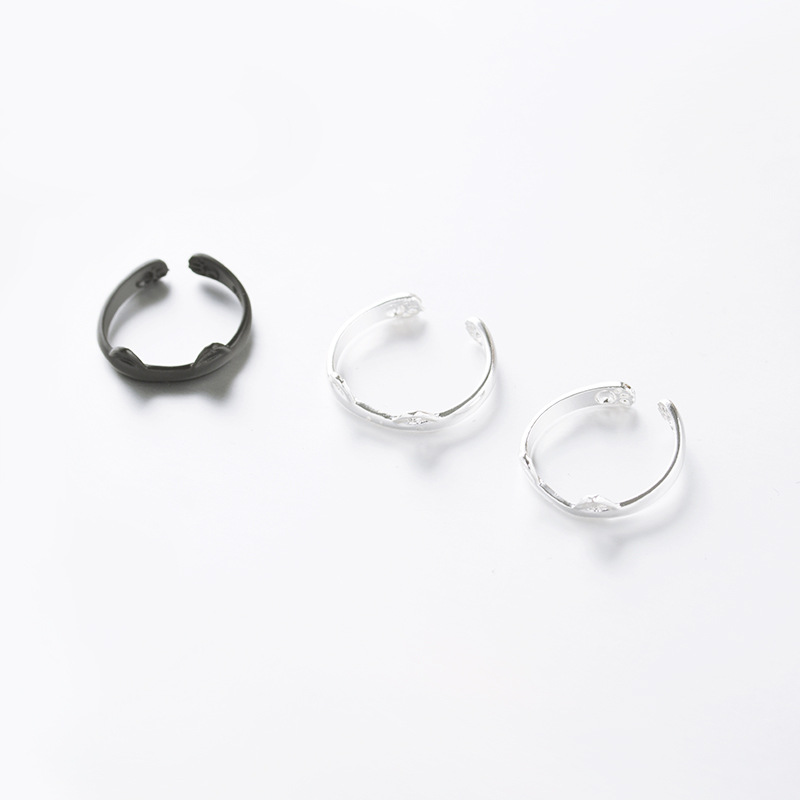 Korean fashion super cute cartoon cat claw footprint ring cute animal cat ear open ring NHDP203070