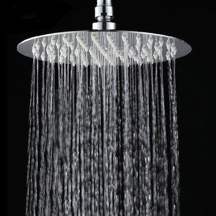 304不锈钢超薄顶喷增压淋浴大花洒喷头浴室201淋雨喷头加压莲蓬头