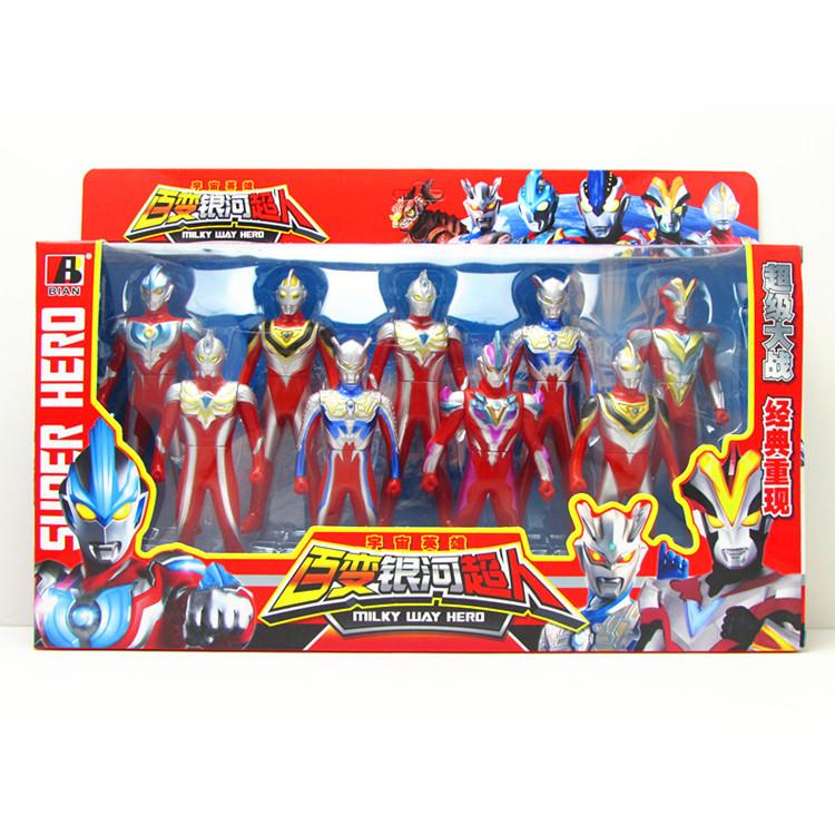 银河宇宙超人玩具套装  胜利超人赛文泰罗人偶关节活动