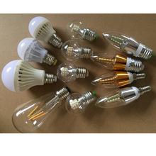 愛迪生照明E27球泡尖泡E14暖光白光三色變光5W7W透明高檔LED燈泡