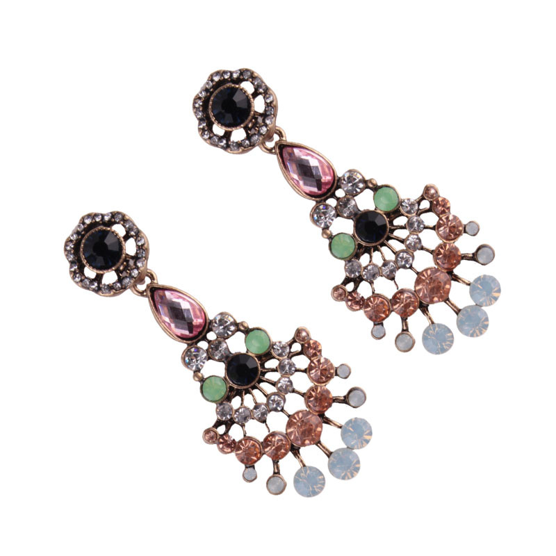 Occident and the United States alloy Diamond earring (color)NHJQ9256-color